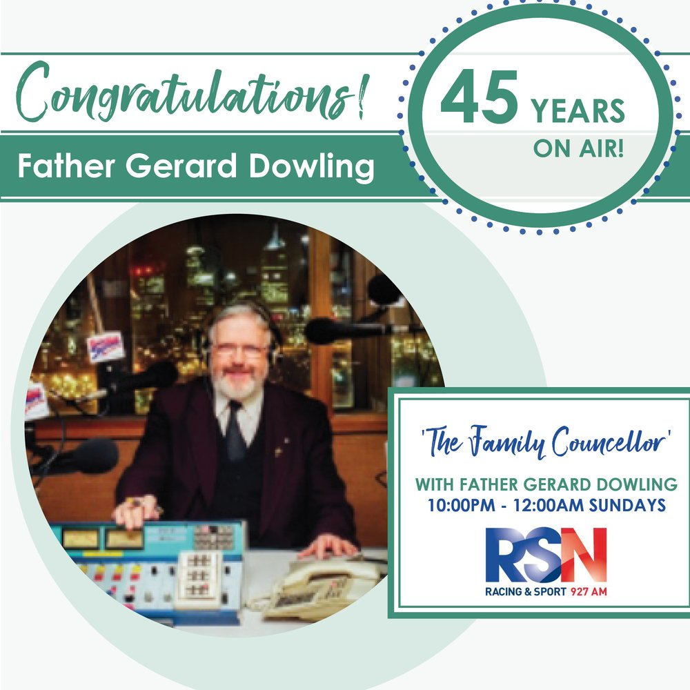 Father Gerard Dowling 45 years on air